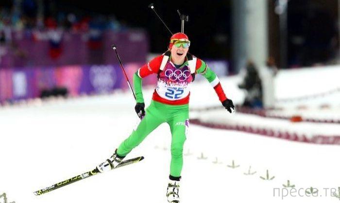 Белорусская биатлонистка Дарья Домрачева - трехкратная Олимпийская чемпионка! (14 фото)