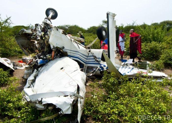 Люди чудом выжили после крушения самолета в Танзании (9 фото)