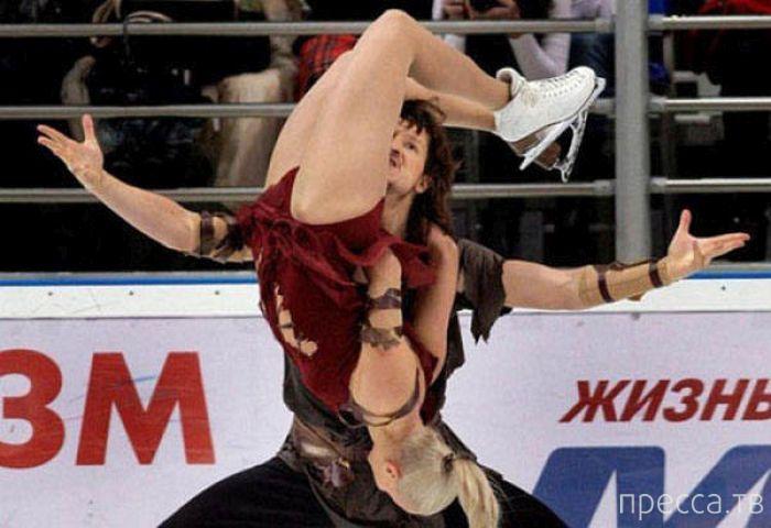 Прикольные фотографии с соревнований по фигурному катанию в Сочи (24 фото)