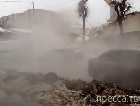 При сносе здания, стена упала на проезжую часть... ДТП на пересечении  ул. Чапаева-Пролетарская, г. Рязань