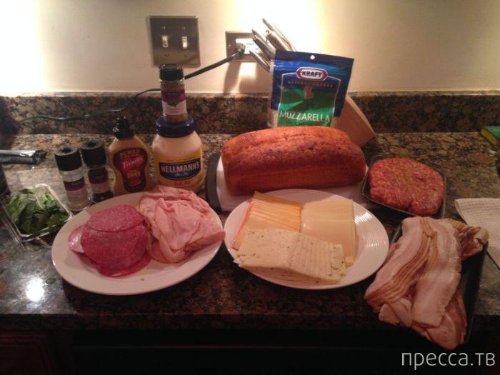 Как сделать настоящий мужской бутерброд (23 фото)