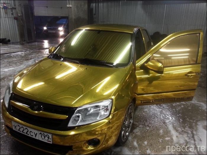 Золотая Лада Гранта (6 фото)