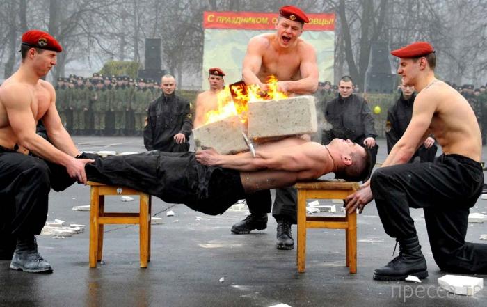 Тренировки бойцов спецподразделений внутренних войск Беларуси (15 фото)