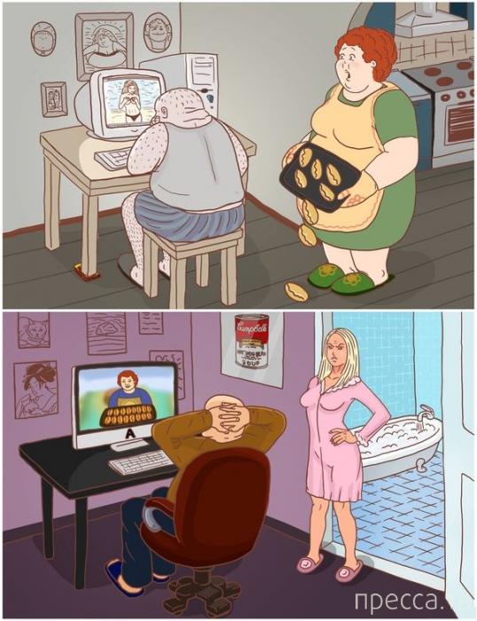 Веселые комиксы и карикатуры, часть 95 (15 фото)