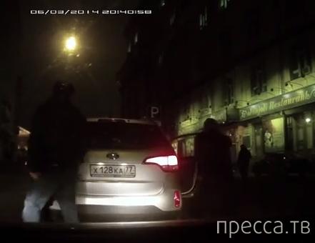 Разборки на дороге с таксистом... ДТП в г. Москва
