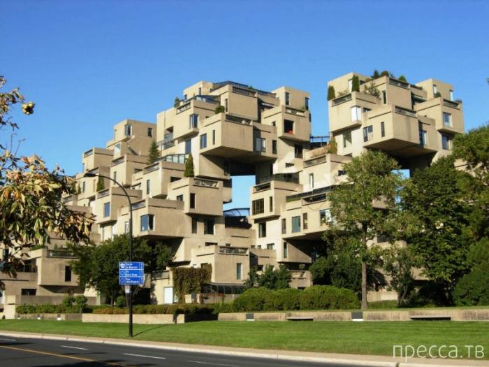 «Хабитат-67» - необычный жилой дом в Монреале (7 фото)