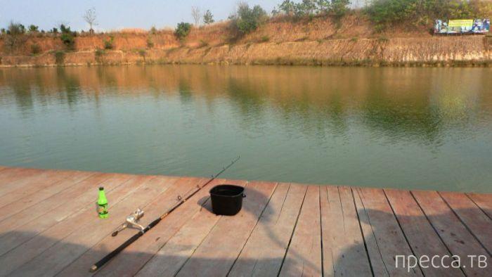 """Рыбалка на """"Озере монстров"""" в Таиланде (8 фото)"""