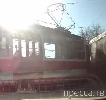 Столкновение трамваев на красный свет... ДТП на проспекте Стачек, г. Санкт-Петербург