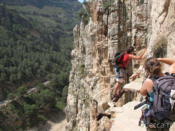 Королевская тропинка (El Caminito del Rey)— самая опасная и экстремальная дорога в мире (8 фото)