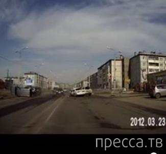 """""""Гонщик"""" хотел проскочить между машин... ДТП в г. Ангарск, Иркутская область"""