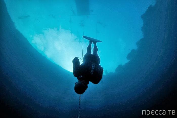 Голубая дыра Дина на Багамских островах (9 фото)