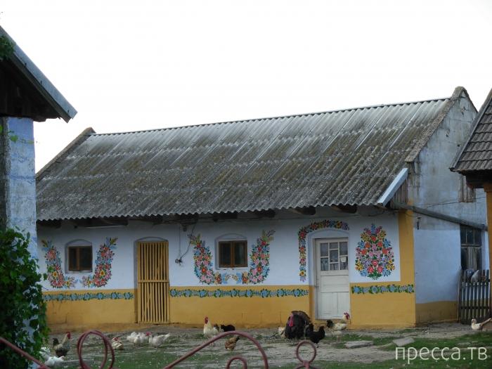Залипье - деревня с расписными домами в Польше (15 фото)