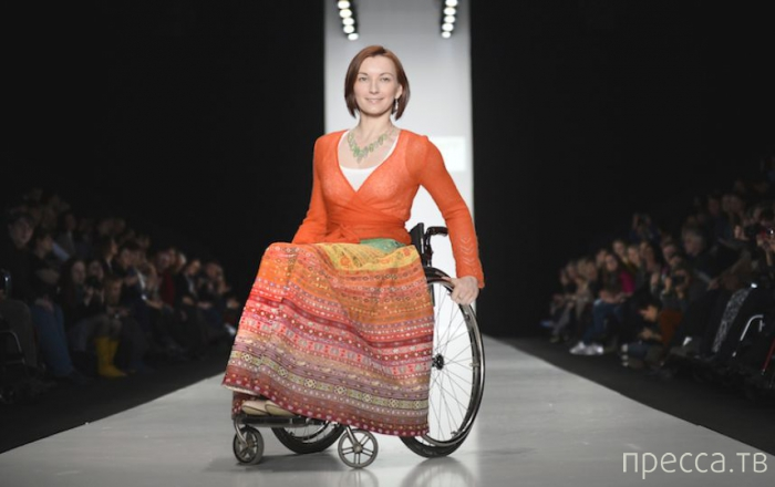 Необычный показ моды для людей с ограниченными возможностями, Москва ( фото)