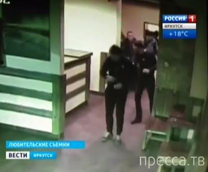 Ранен в голову охранник бара... г. Иркутск