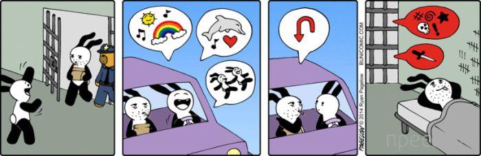 Веселые комиксы и карикатуры, часть 111 (15 фото)