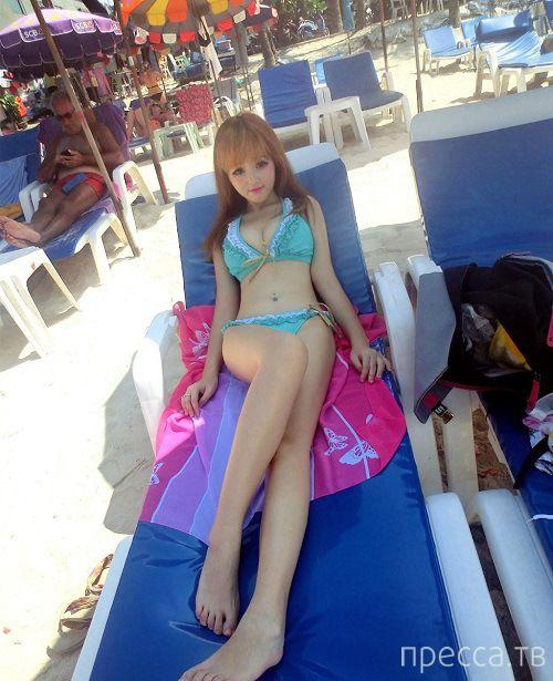 19-летняя китаянка Юнь Тян - живая кукла Барби (10 фото)