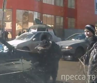 Таксист сбил мальчика... ДТП в г. Уфа