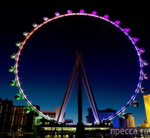 Самое высокое колесо обозрения на планете в Лас-Вегасе - HighRoller (10 фото)