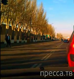 Летел на красный и чудом не сбил пешехода... ДТП в г. Одесса