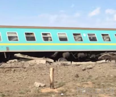 Крушение поезда Алматы-Атырау...