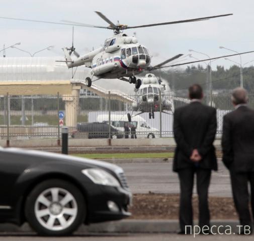 Интерьер президентского вертолета (8 фото)
