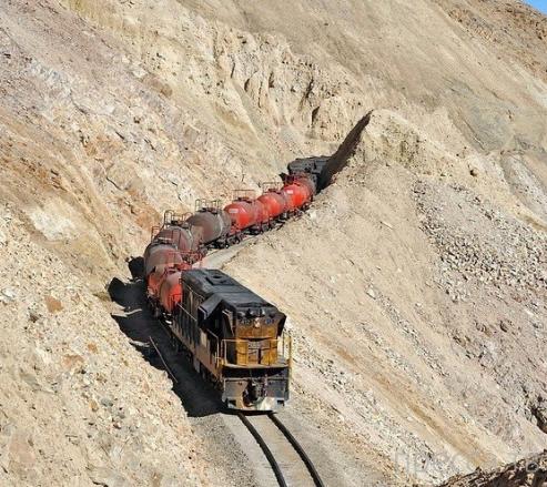 Необычная железная дорога в Чили (19 фото)