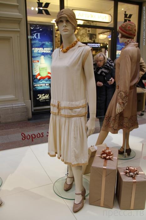 Выставка исторических костюмов в ГУМе - Сталинская мода (10 фото)