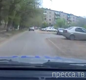 """Полицейская погоня за пьяным водителем """"Hyundai Santa Fe""""... г. Волжский, Волгоградская область"""