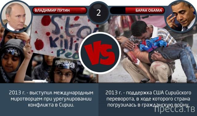 Путин против Обамы (6 фото)