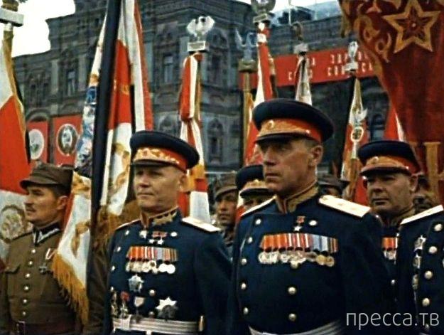 Цветные фото Парада Победы в 1945 году (45 фото)