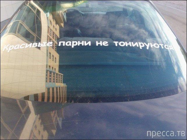 Прикольные надписи на автомобилях (25 фото)