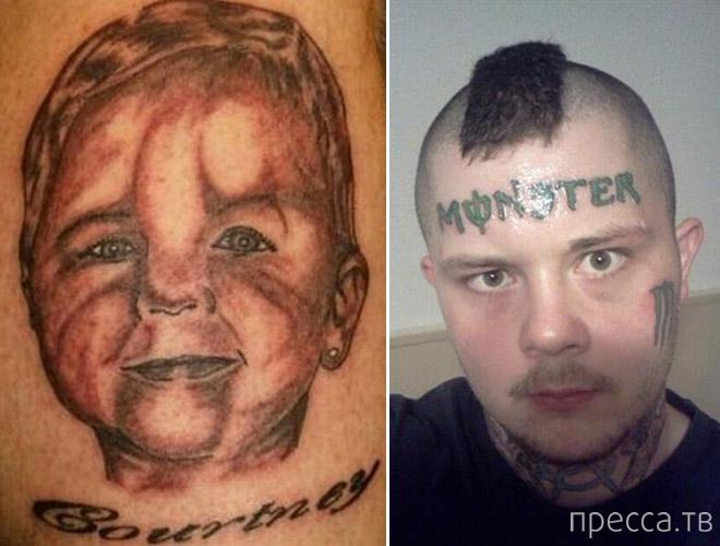 Самые ужасные бездарные татуировки (14 фото)