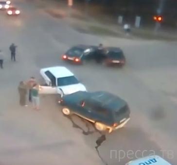 Проклятый перекресток... Две аварии одна за другой. г. Конаково, Тверская область