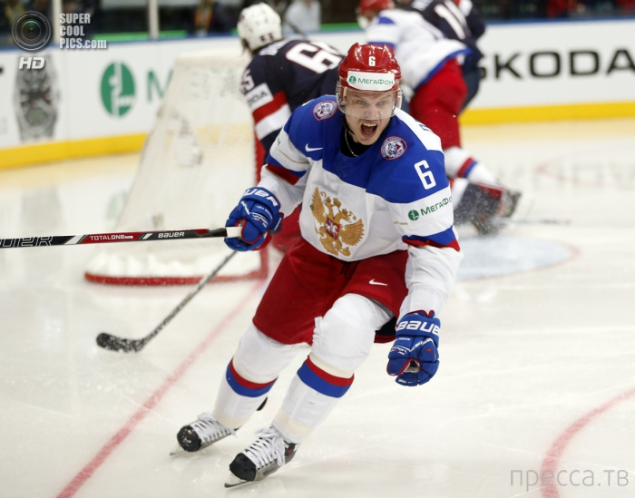 Блистательная победа сборной России по хоккею над командой США (10 фото)