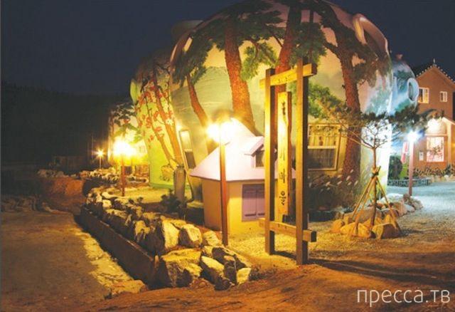 Необычный отель в кувшине на острове Ёнпхёндо в Жёлтом море (9 фото)