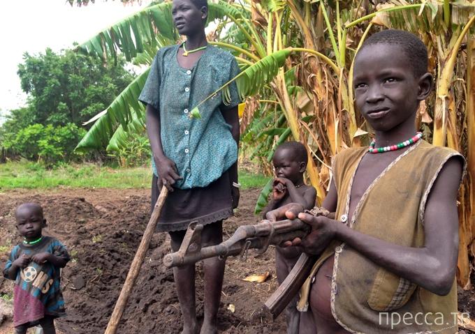 Южный Судан - люди, у которых нет ничего (8 фото)