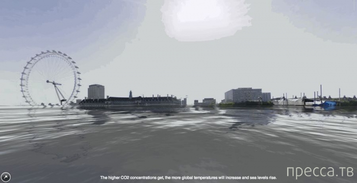 Города после поднятия уровня мирового океана на 3,5 метра (6 фото)