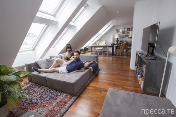 Кончита Вурст и ее муж Жак Патриак: домашняя фотоссесия (46 фото)