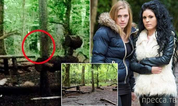 Призраки перепугали туристок в лесу (8 фото)