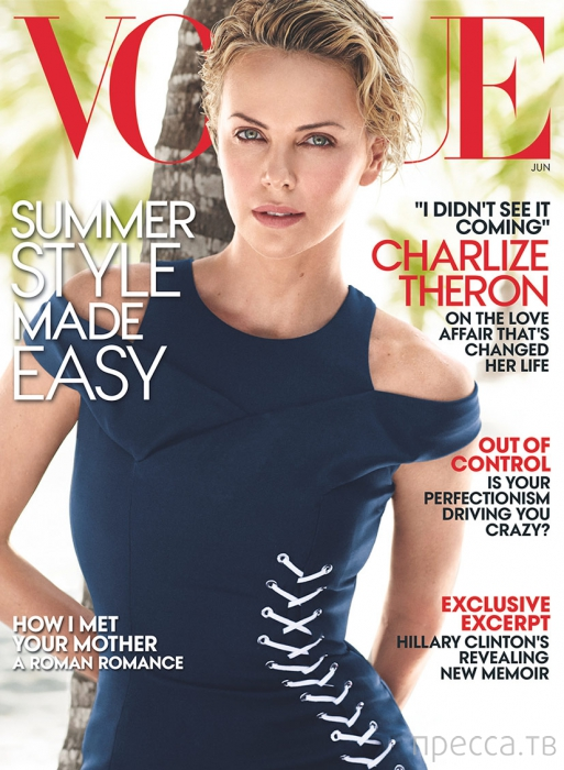 Шарлиз Терон (Charlize Theron) в июньском номере американского Vogue (9 фото)