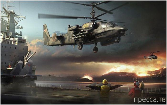 """Боевой вертолет """"Ка-52 Аллигатор"""" способен противостоять целой армии (12 фото)"""