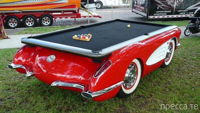 Бильярдные столы из американских ретро-автомобилей (6 фото)