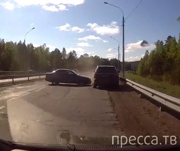 Немного зазевался... ДТП на трассе Ангарск - Иркутск