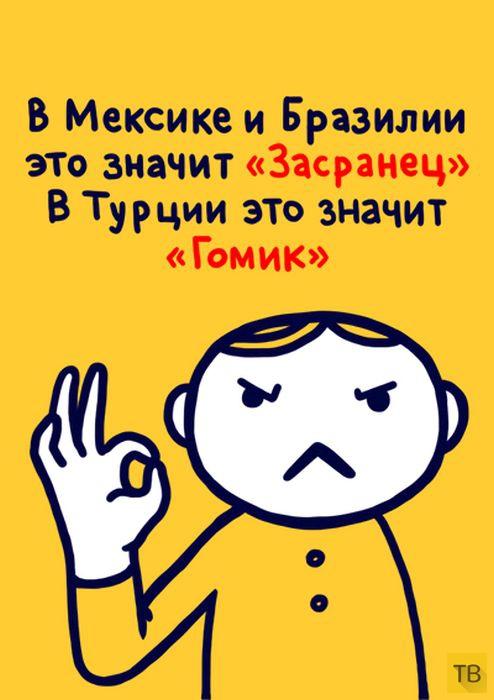 Значение жестов в разных странах мира (28 фото)