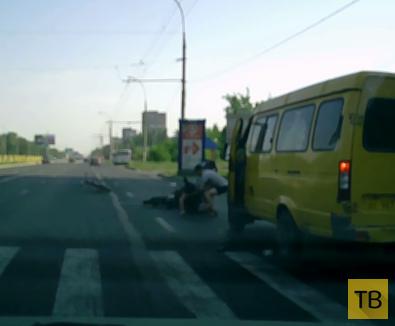 Мопедист сбил велосипедиста... ДТП на ул. Степана Разина, г. Тольятти