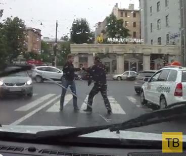 Драка с таксистом... Кулаком разбил стекло. ДТП в г. Санкт-Петербург