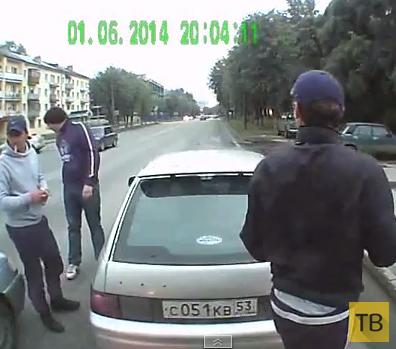 Заблокировали на дороге рейсовый автобус...  Развлечения молодых бездельников. г. Великий Новгород