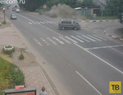 На перекрестке сбили пешехода... ДТП в пос. Красково, Люберецкий р-он, Московская область