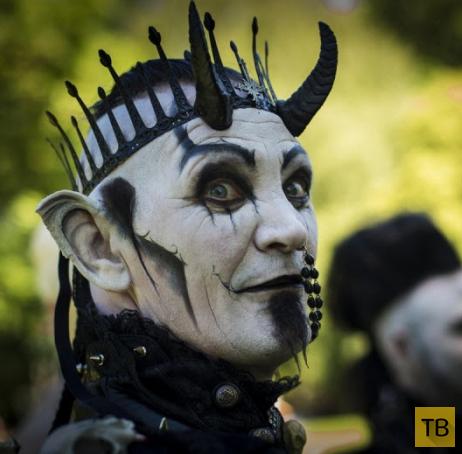 Персонажи и костюмы фестиваля «Wave-Gotik Treffen 2014» (12 фото)