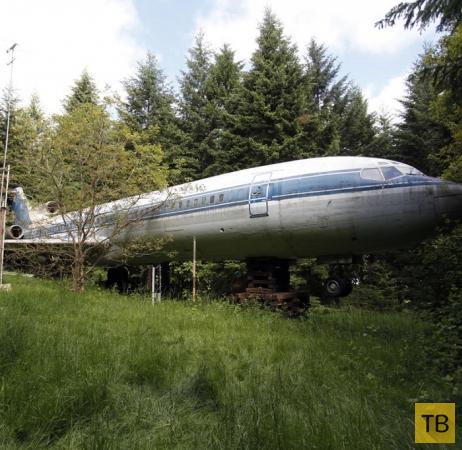 "Американский пенсионер построил себе дом  из самолета ""Boeing-727"" (10 фото)"